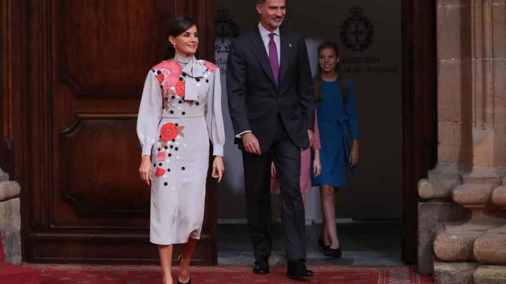 La reina Letizia en la recepción en Oviedo este viernes.