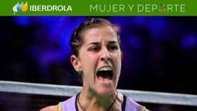 Carolina Marín celebra el pase a semifinales en el Open de Dinamarca