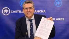Miguel Ángel Rodríguez, este viernes en rueda de prensa