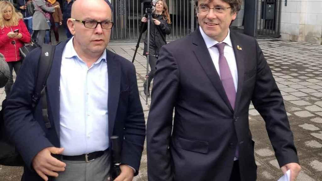 Gonzalo Boye, junto con Carles Puigdemont, la semana pasada.
