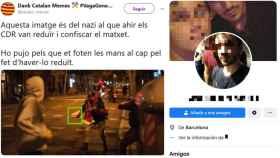 Imágenes distribuidas por los radicales en redes sociales