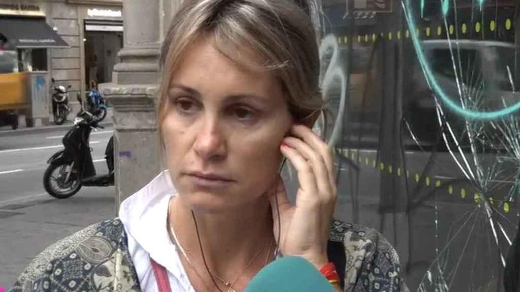 Paula, la vecina indignada del Paseo de Gracia (Barcelona).