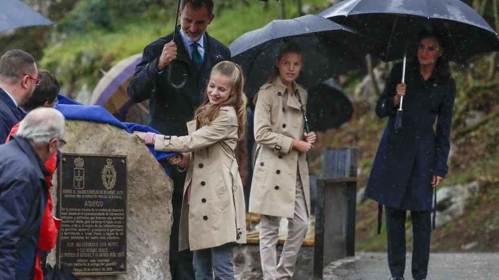 La Familia Real en Asiegu.