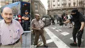 José Frías, barcelonés de 72 años e hijo de republicano, se enfrentó este viernes a los radicales independentistas.