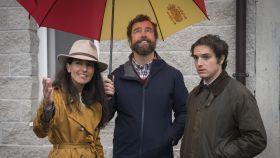 Rocío Monasterio, Iván Espinosa de los Monteros y Javier Figueredo, diputado autonómico de Vox.