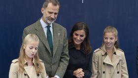 Leonor de Borbón, el rey Felipe, la reina Letizia y la infanta Sofía.