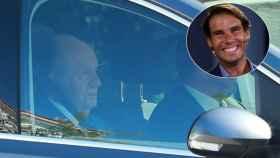Juan Carlos llega a la boda Rafa Nadal y Xisca Perelló.