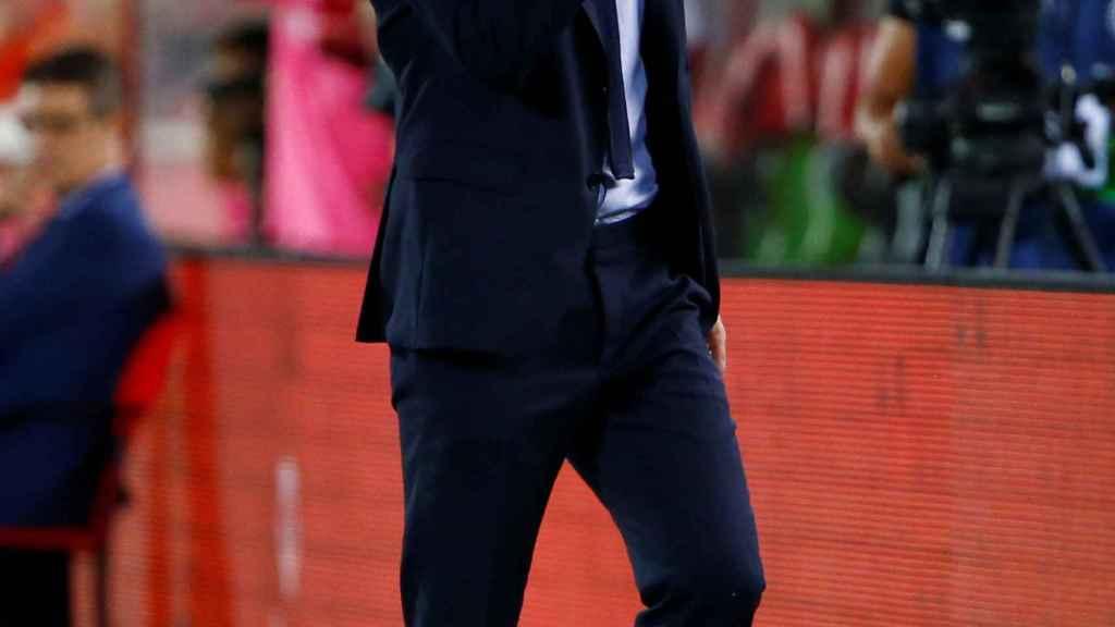 Zidane con cara de preocupación en Son Moix