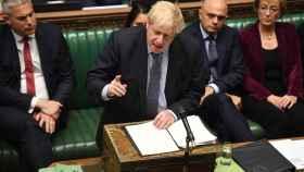 El primer ministro británico en el Parlamento este sábado