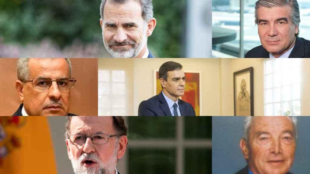 Felipe VI, Francisco Reynés, Rachid Hachichi, Pedro Sánchez, Pedro Durán y Mariano Rajoy.