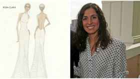 Boceto del segundo vestido que ha llevado Xisca Perelló en su boda con Rafa Nadal.