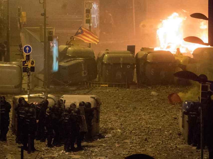 Los disturbios en la noche del viernes, los más graves registrados en Barcelona.