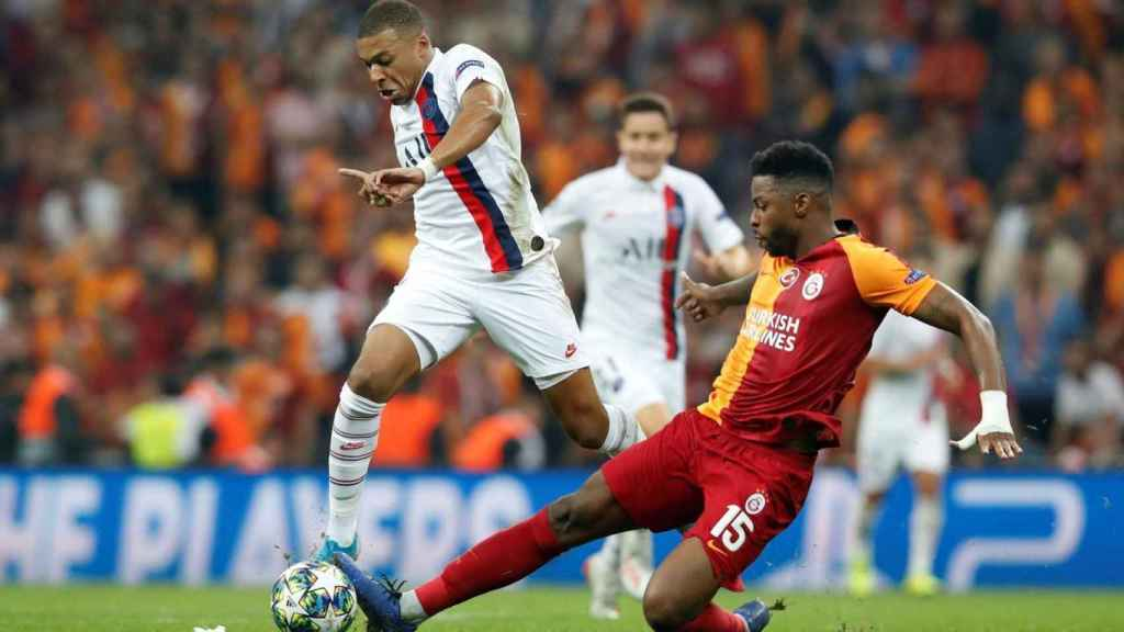 Mbappe frente al Galatasaray en el encuentro de la última jornada de Champions