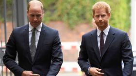 Los príncipes William y Harry de Inglaterra.