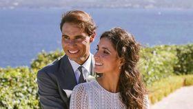Fotografía de la pareja durante su boda.