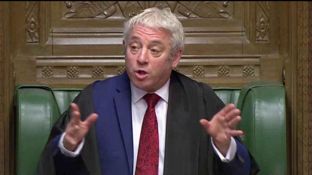John Bercow, presidente de la Cámara de los Comunes.