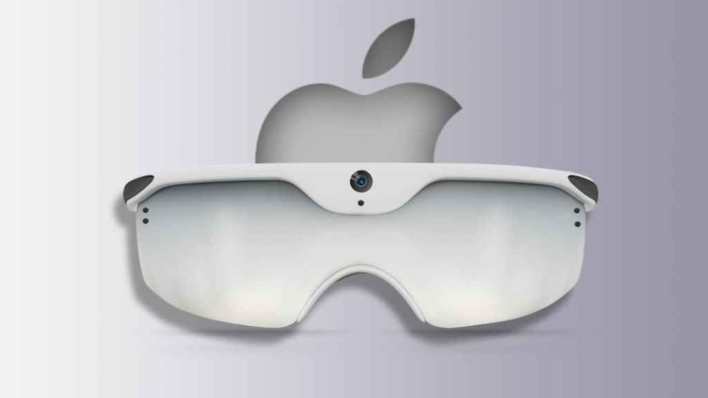 Concepto de las gafas de realidad aumentada.