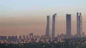 Una imagen de archivo muestra la contaminación en Madrid.