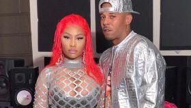 Nicki Minaj junto a su pareja Kenneth Petty en una imagen de redes sociales.