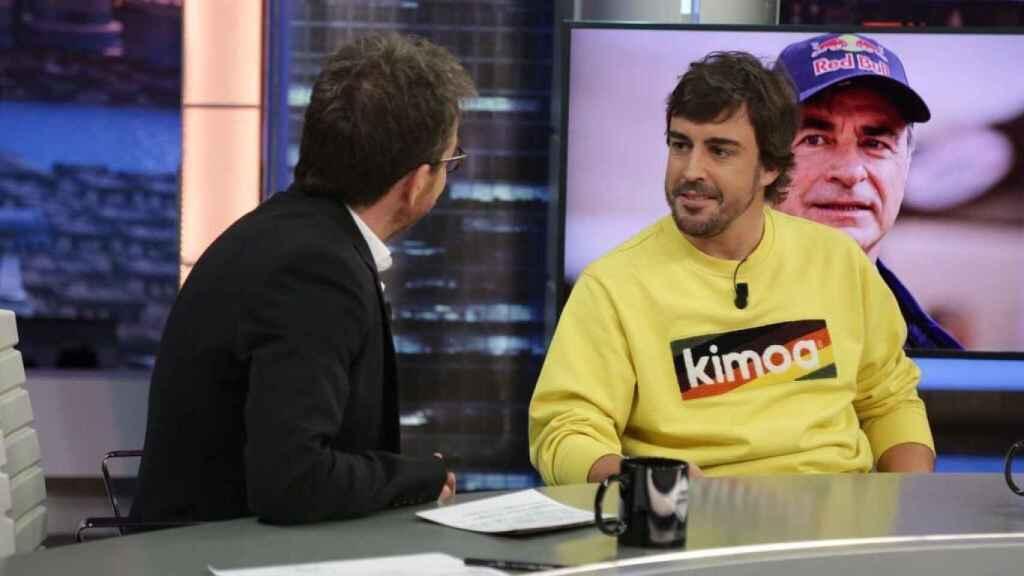 Fernando Alonso, en El Hormiguero con una sudadera de su marca Kimoa