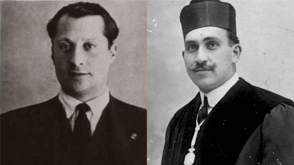 José Antonio Primo de Rivera y el magistrado Eduardo Iglesias Portal.