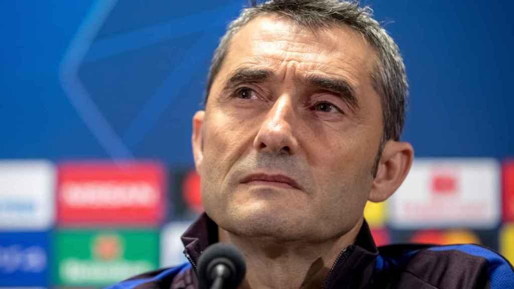 Ernesto Valverde analiza el choque ante el Slavia