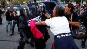 Imagen de una de las protestas en Barcelona tras conocerse la sentencia del 'procés'.