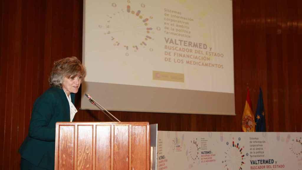 La ministra de Sanidad en funciones, María Luisa Carcedo, en la presentación de Valtermed.