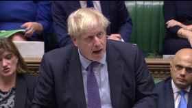 Boris Johnson, durante el debate este martes en Westminster