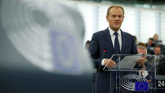 Donald Tusk, en la Eurocámara.