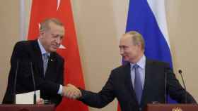 Los presidentes de Turquía, Recep Tayyip Erdogan, y Rusia, Vladimir Putin.