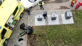Momento en el que la policía noruega ha detenido al ladrón y autor de los atropellos en Oslo.