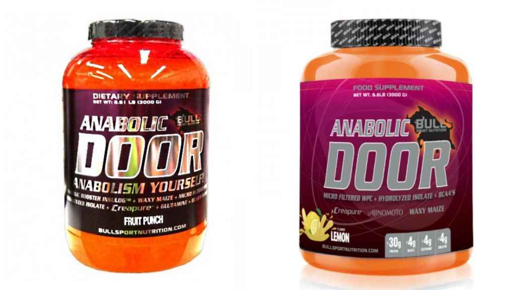 Los productos 'Anabolic Door' objeto de la alerta.