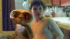 Henry Thomas durante la película de 'E.T.'.