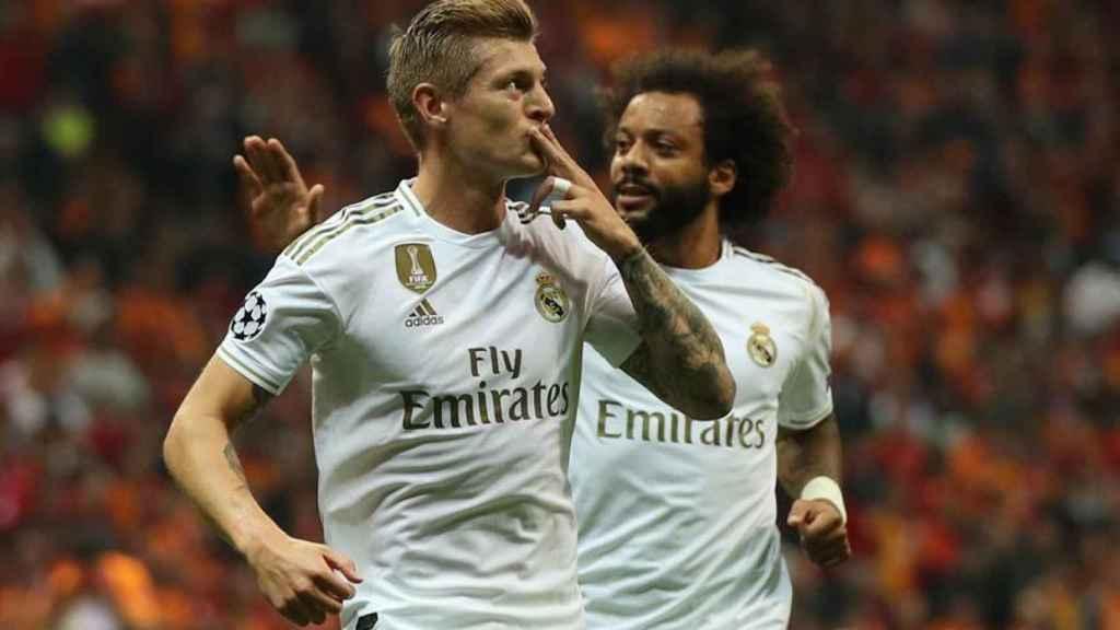 Toni Kroos y Marcelo, en un partido del Real Madrid