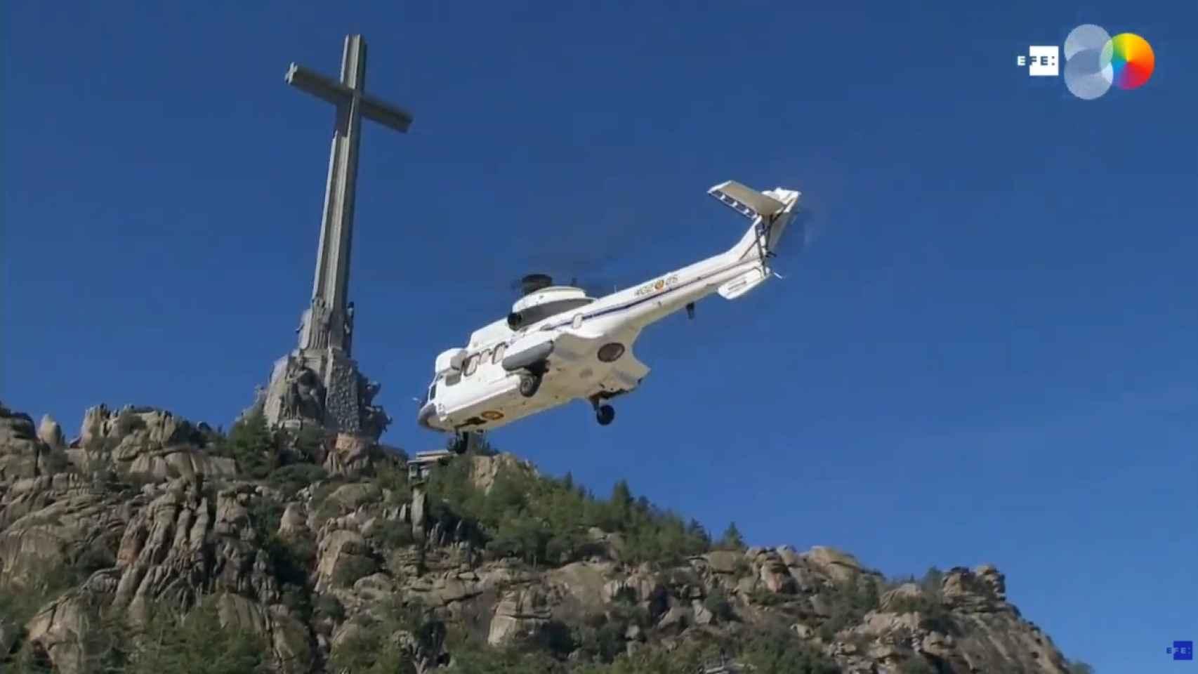 Sale el helicóptero del Valle