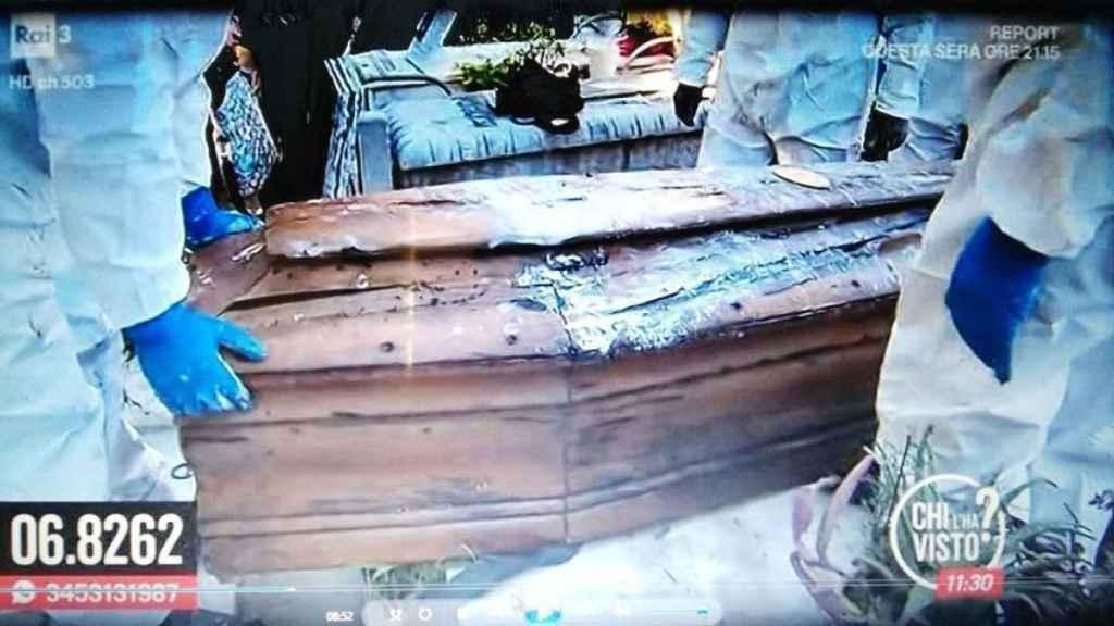 Imagen de la segunda exhumación del cuerpo de Mario Biondo.