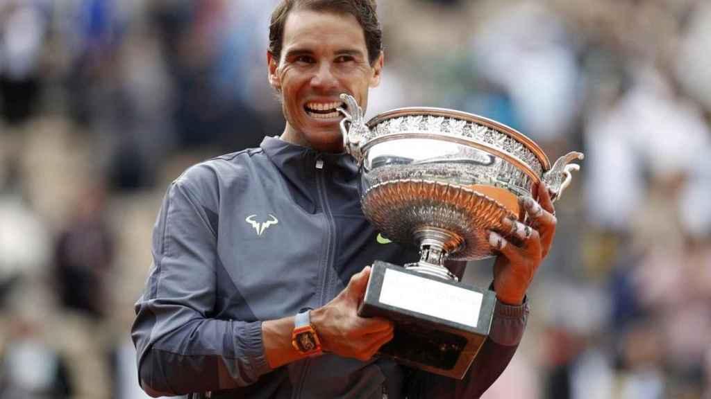 Rafa Nadal, tras ganar su 12º Roland Garros en 2019.
