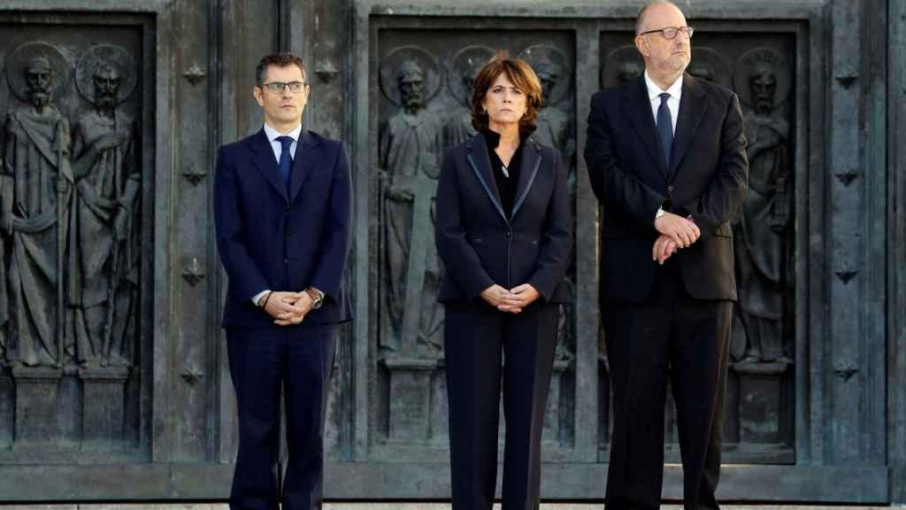 Dolores Delgado, ministra de Justicia en funciones, ha ejercido de notaria del Reino en la exhumación de Franco.