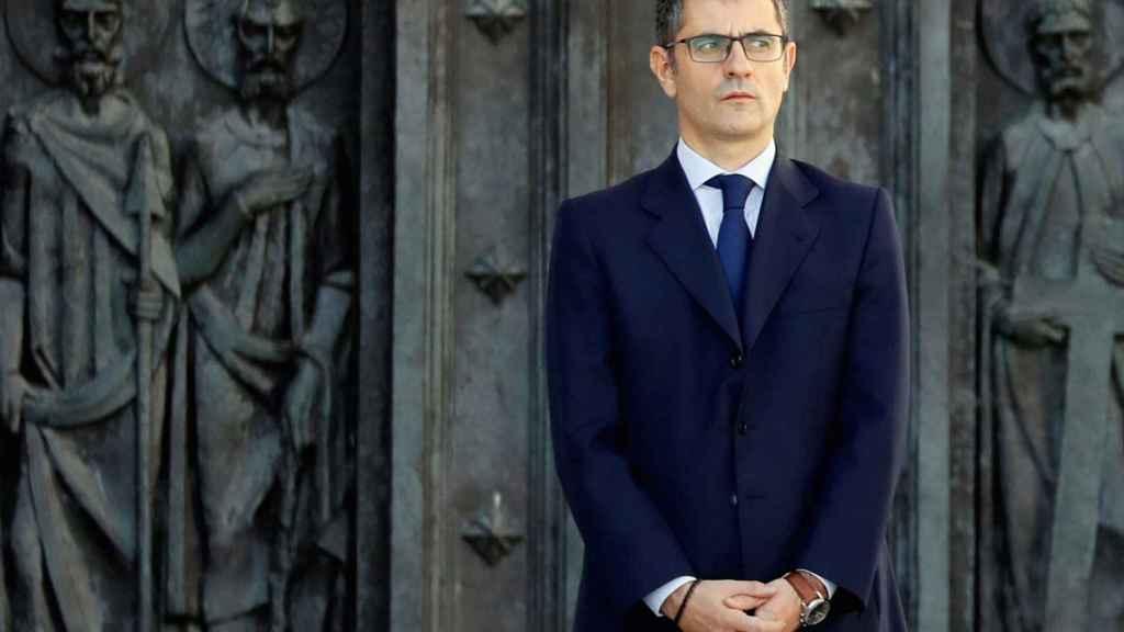 Félix Bolaños, secretario general de la Presidencia del Gobierno, este jueves en el Valle de los Caídos.
