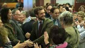 El presidente del PP, Pablo Casado, en un acto en Cuenca.