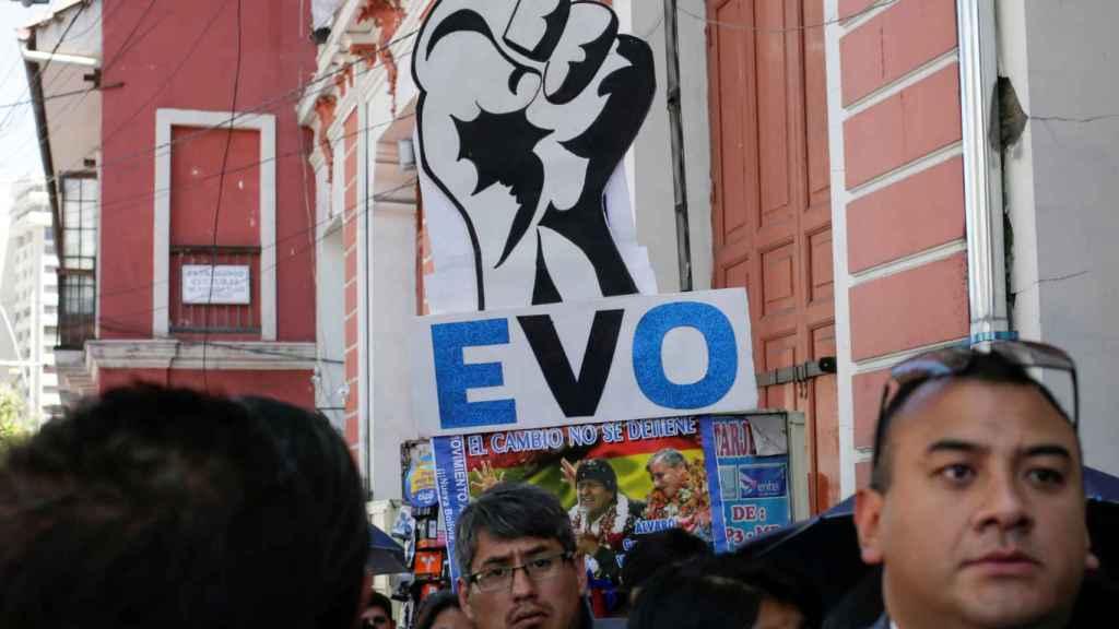 Simpatizantes de Evo Morales.