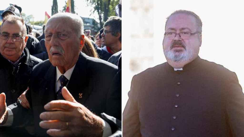 Antonio y Ramón Tejero, padre e hijo, han estado presentes este jueves en Mingorrubio.