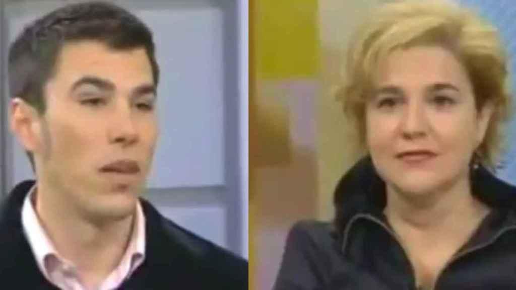 Joan Estéz y Pilar Rahola en el programa de TV3 donde surgió el debate