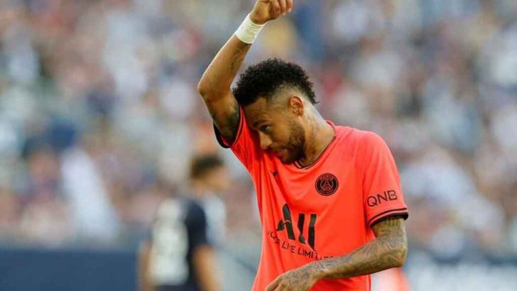 Neymar, durante un partido de esta temporada