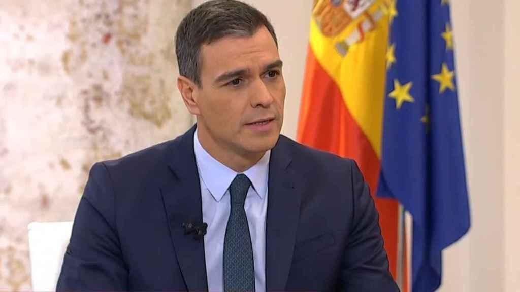 Pedro Sánchez durante la entrevista.