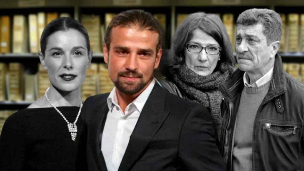 Raquel Sánchez Silva, Mario Biondo, Santina y Giuseppe Biondo.