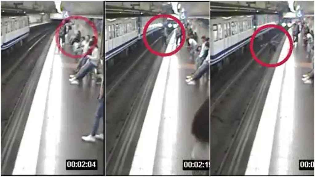 El vídeo de la impactante caída de una joven en el Metro de Madrid por mirar el móvil