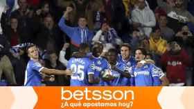 Los futbolistas del Getafe celebran un gol en La Liga