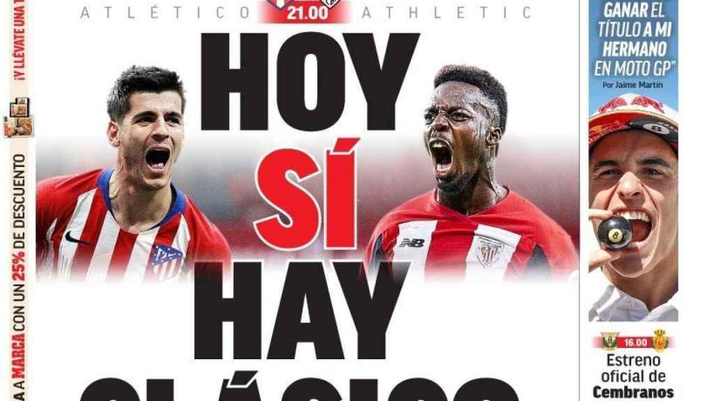 La portada del diario MARCA (26/10/2019)